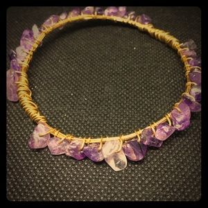 Jewelry - Beautiful amethyst and gold wire bracelet!